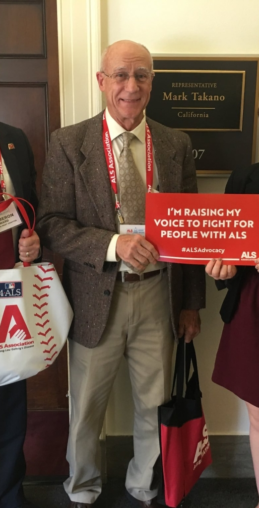 Me at the ALS Advocacy Conference in D.C.